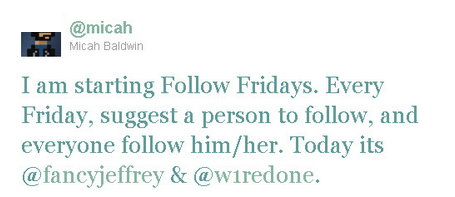 The first follow friday